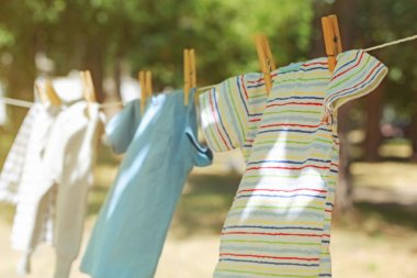 Baby laundry hanging
