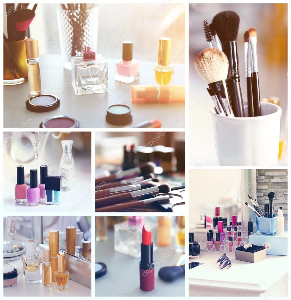 collage of cosmetic products � stock photo 169 belchonock