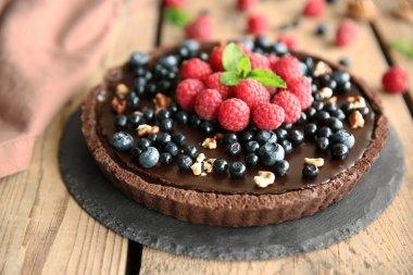 Delicious chocolate tart