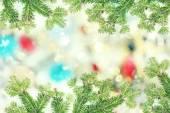 Fotografie Weihnachten-Framework mit Tanne