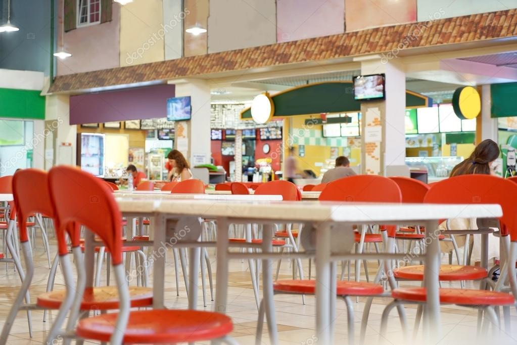 Interior De Restaurante De Comida R Pida Foto De Stock