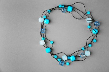 Stylish blue beads