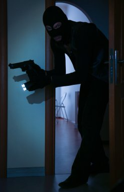 thief entering house