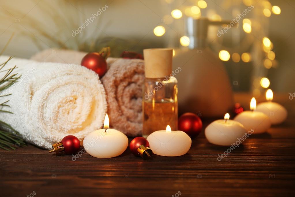 Weihnachten Wellness set — Stockfoto © belchonock #123147580