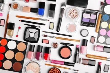 Decorative cosmetics, top view