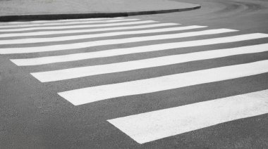 Zebra crossing on a road