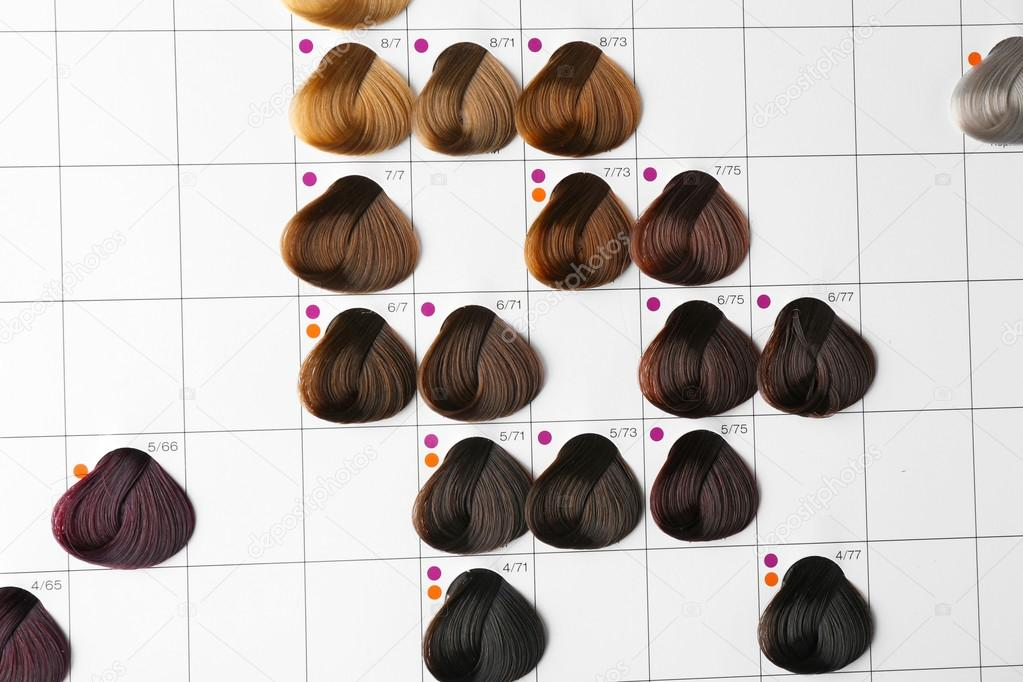 Palette Of Different Colors To Hair Dye Stock Photo Belchonock