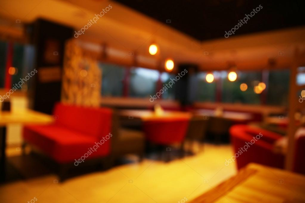 blurred view of contemporary cafe interior design photo by belchonock - Contemporary Cafe Interior