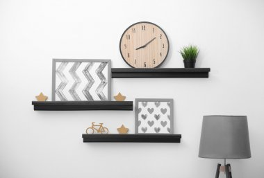 Shelves with home decor
