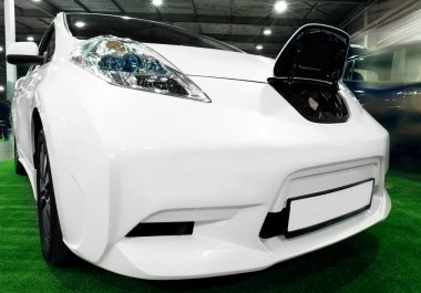 New car in automobile salon