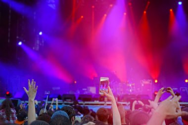 """Картина, постер, плакат, фотообои """"толпа на концерте под открытым небом """", артикул 124779636"""