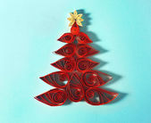 Christmas Tree Made Of Paper Stock Image