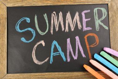 Text Summer camp