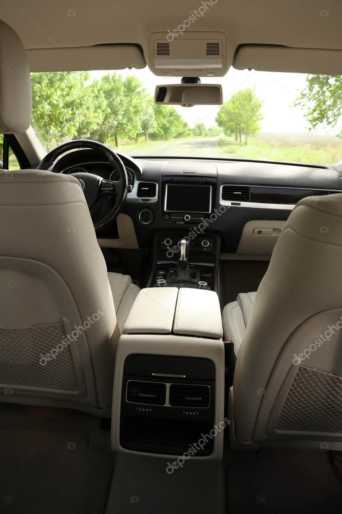 Car interior from within