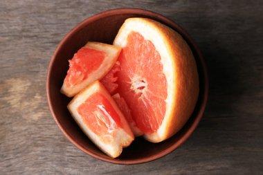 Ripe chopped grapefruit