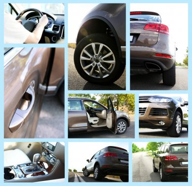 Modern car collage