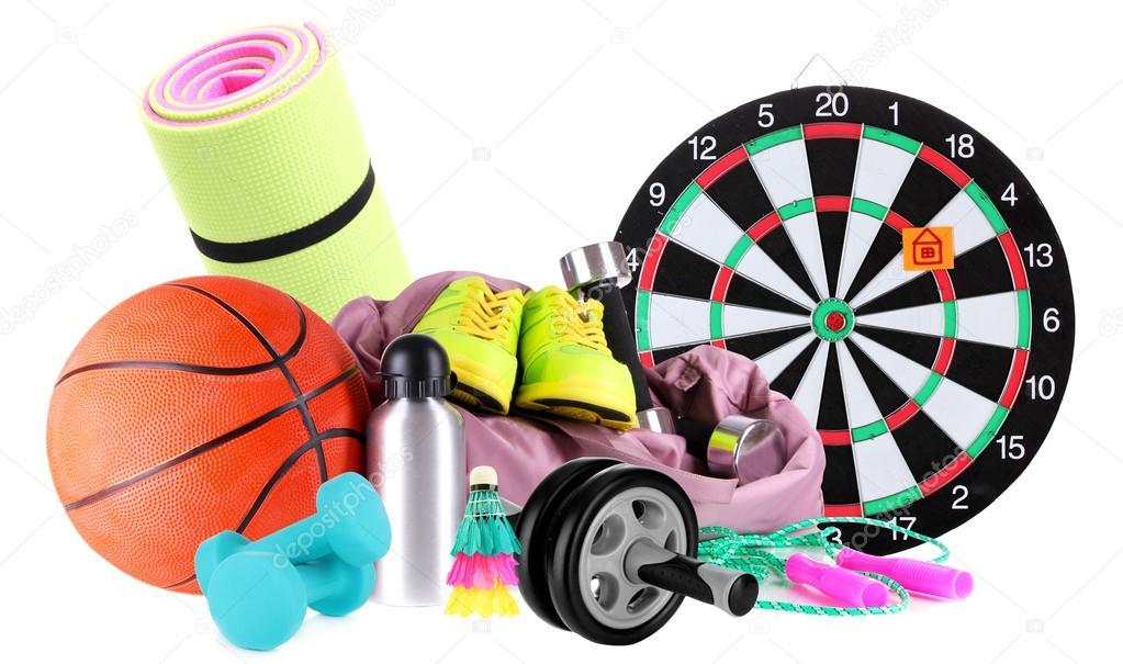 Sportovní zboží izolovaných na bílém — Stock Fotografie © belchonock ... a621345483