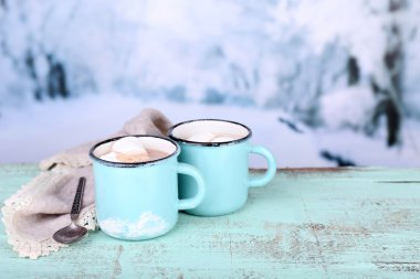 Cup of tasty hot cocoa