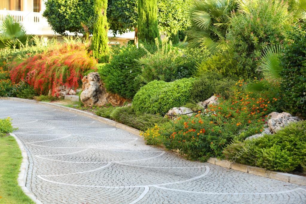 beautiful landscaping at park