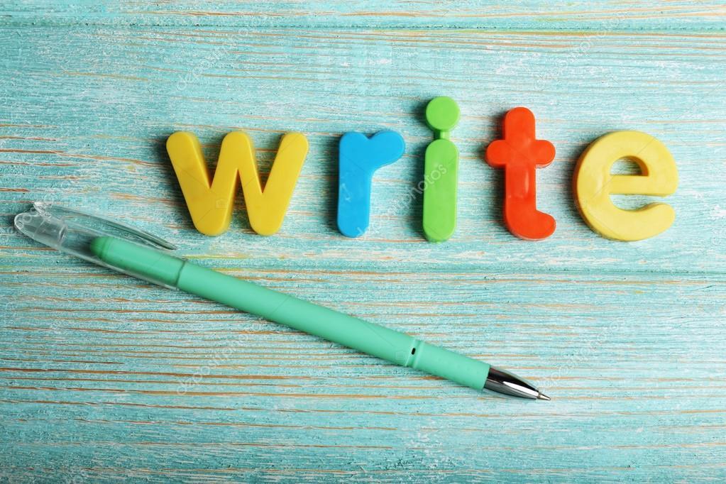 Ecrire Le Mot Avec Les Lettres Colorees Photographie Belchonock