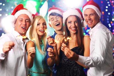 People celebrating Christmas