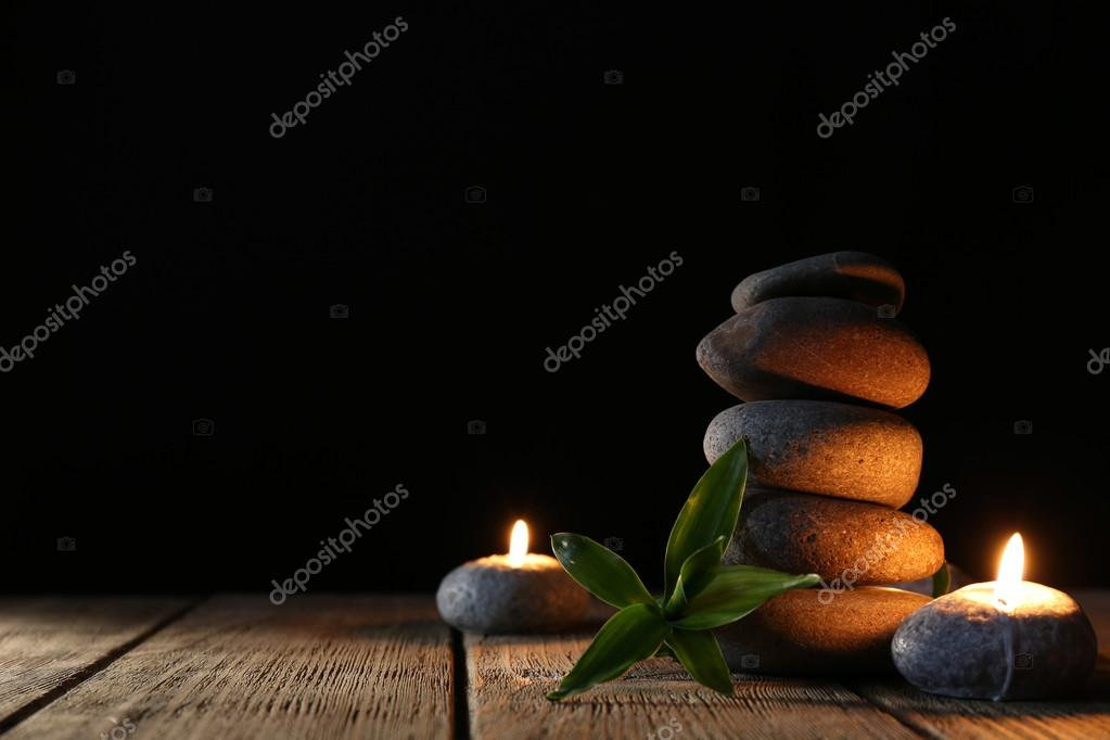 spa stones and candles stock photo belchonock 56115573
