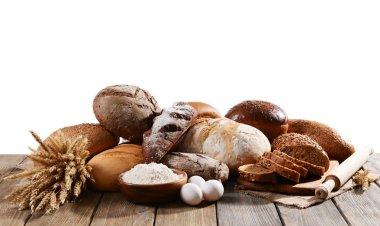 Fresh bread on table