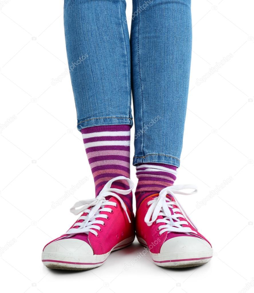 Красивые ножки в кросовках и носочках фото 264-310