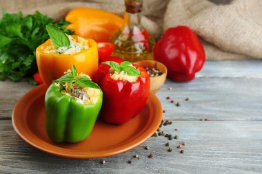 Composition with stuffed peppers