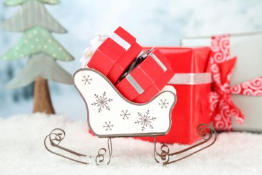 Toy sledge with Christmas gifts