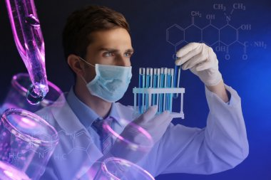 Young scientist working at lab