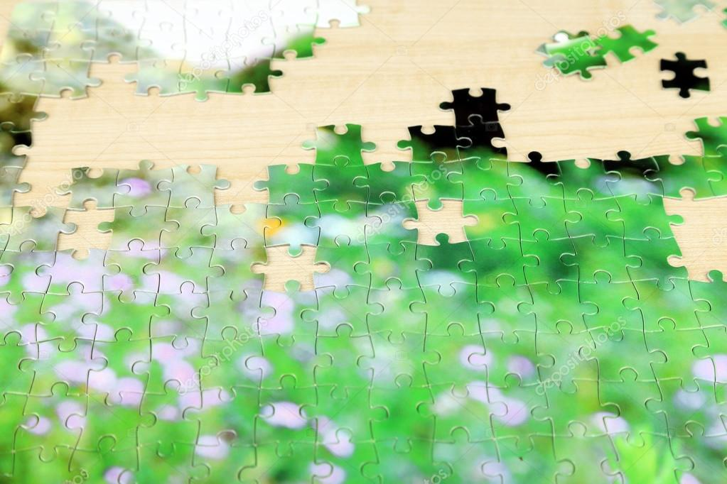 Puzzles with beautiful landscape