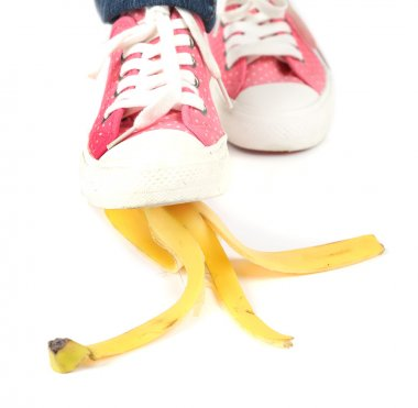 Shoe to slip on banana peel