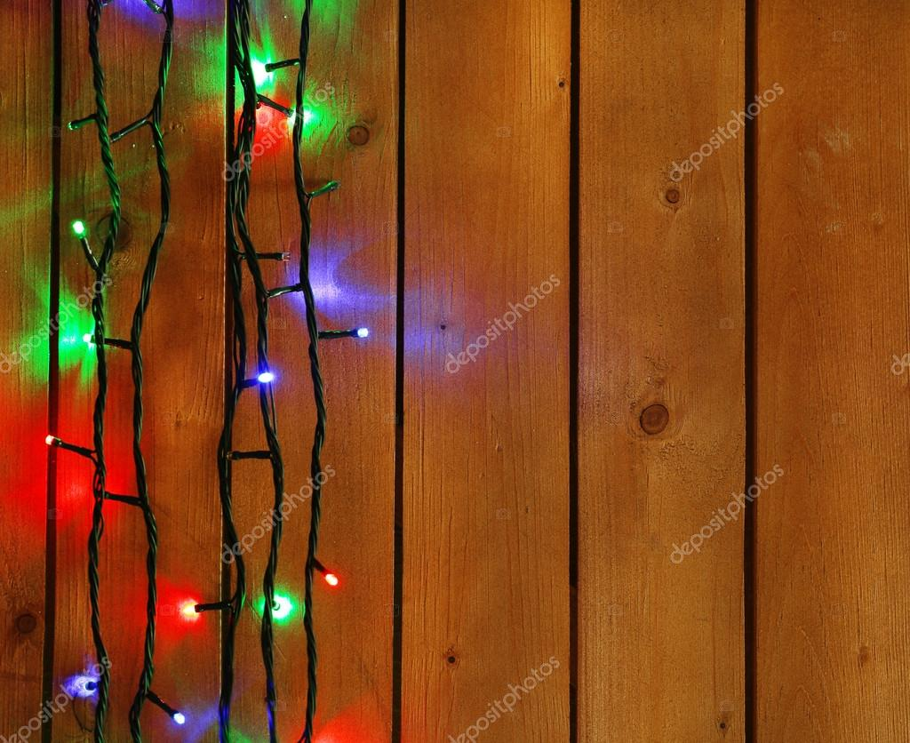 Christmas lights garland u stock photo belchonock