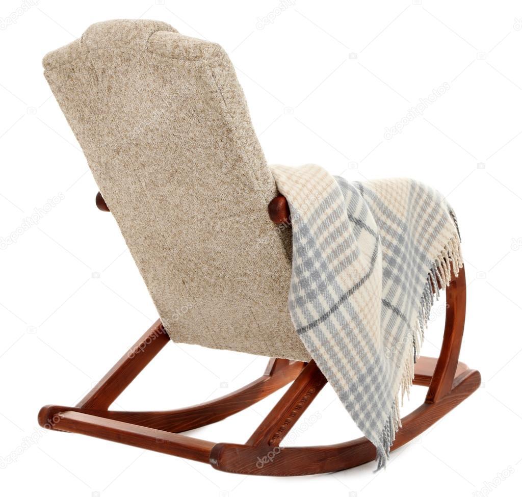 Ansprechend Schaukelstuhl Modern Das Beste Von Moderner Stuhl Mit Teppich Isoliert Auf Weiss