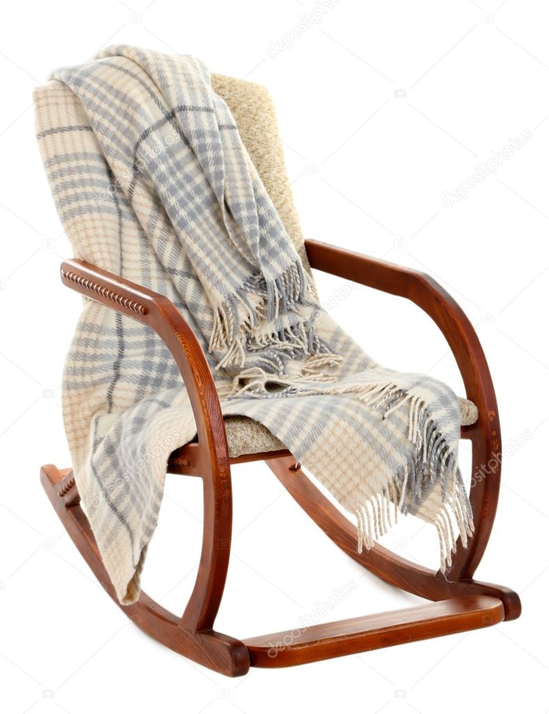 Swell Modern Rocking Chair With Rug Isolated On White Stock Bralicious Painted Fabric Chair Ideas Braliciousco