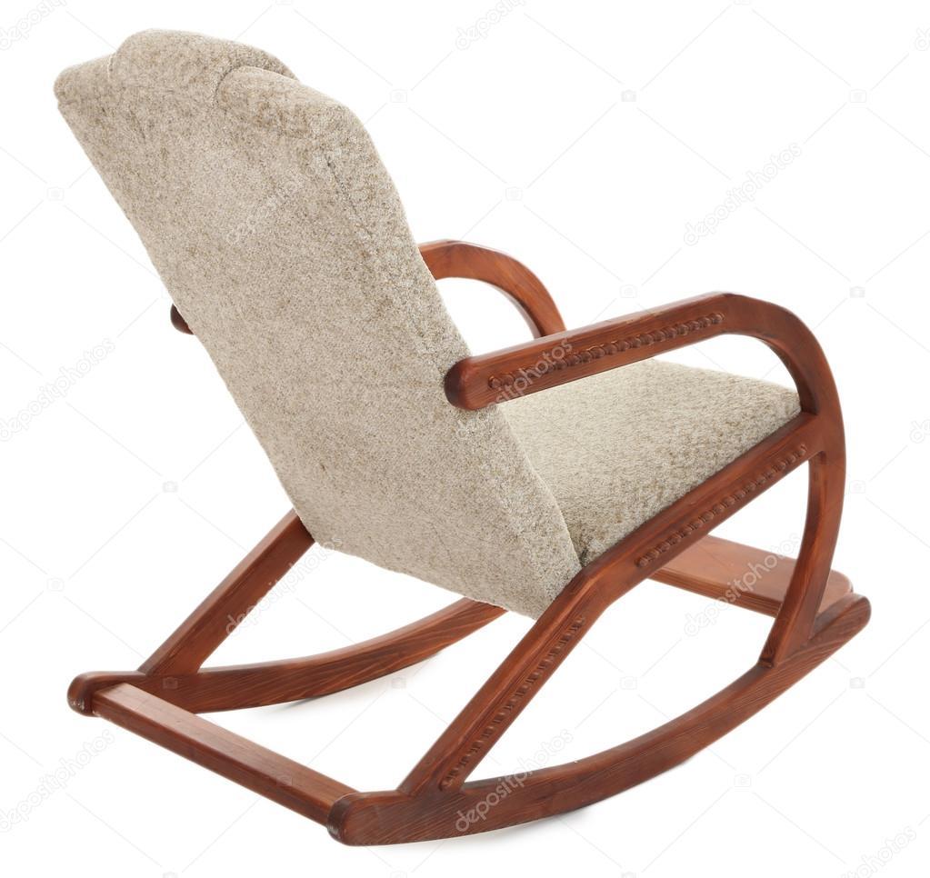 Moderner Schaukelstuhl moderner schaukelstuhl stuhl isoliert auf weiss stockfoto