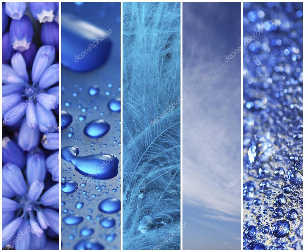Blaue Farbe Proben collage — Stockfoto © belchonock #62293227