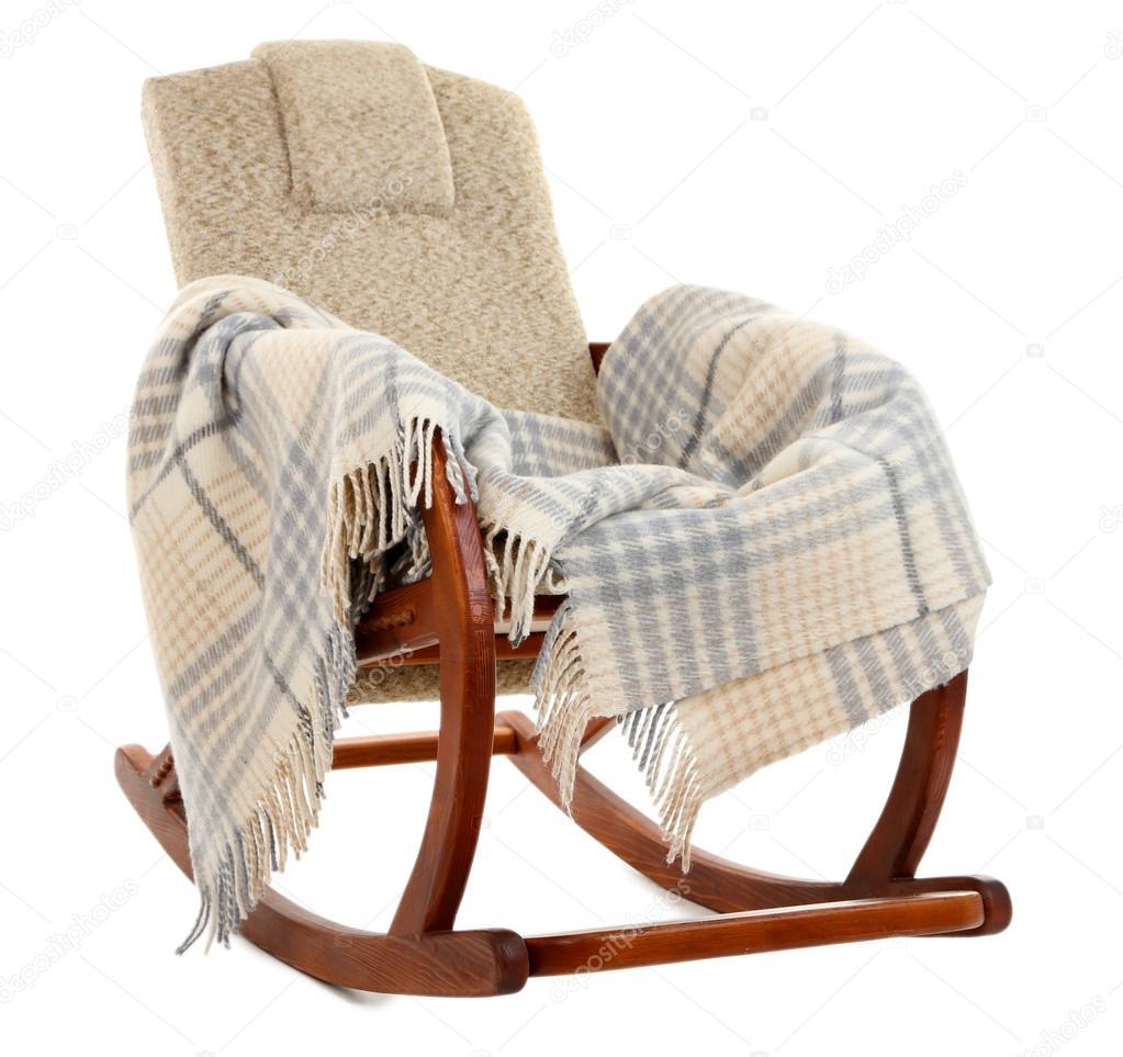 Verzauberkunst Schaukelstuhl Modern Sammlung Von Moderner Stuhl Mit Teppich Isoliert Auf Weiss