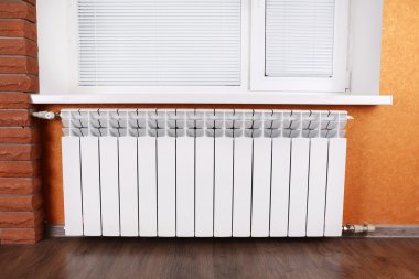 Heating radiator in room