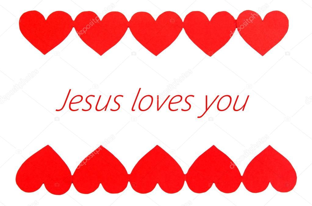 Jesus liebt Sie Text im Rahmen — Stockfoto © belchonock #62967979
