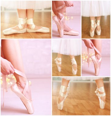 Ballerina legs in pointes