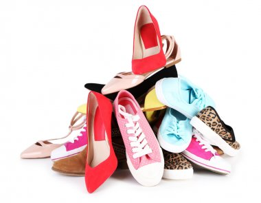 Various female shoes