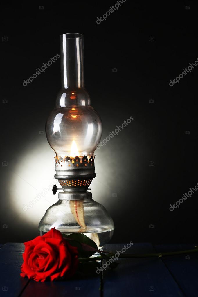 Petróleumlámpa tábla — Stock Fotó