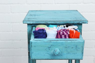 Socks in color drawer