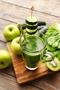 Green fresh healthy juice