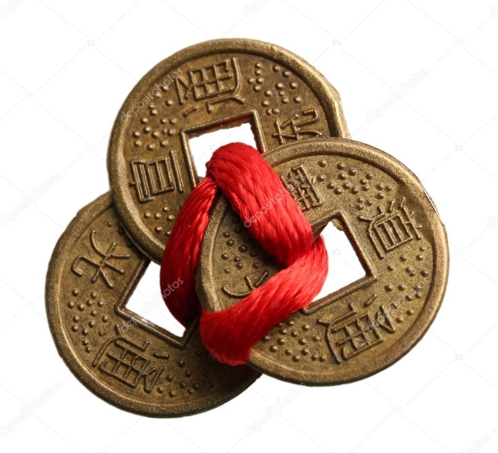 Feng Shui Münzen Stockfoto Belchonock 64664625