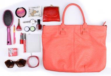 Ladies handbag and things