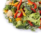 Fagyasztott zöldség, elszigetelt fehér