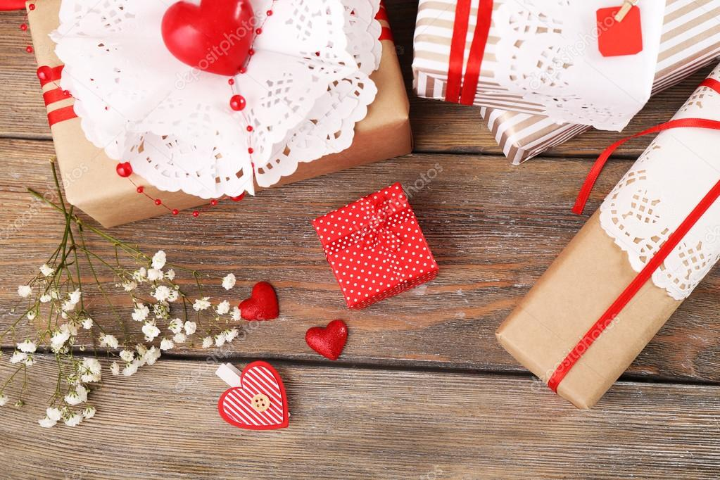 Handmade Gifts On Valentine Day Stock Photo Belchonock 65021669
